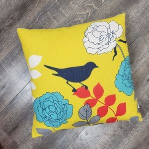 18 x 18 Canvas Bird Throw Pillow